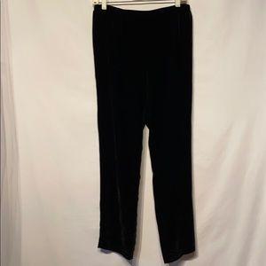 Eileen Fisher Black Washable Velvet Pants Petite S